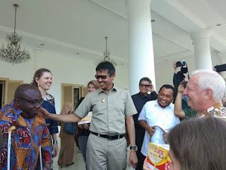 Gubernur Irwan Terima Kunjungan Internasional Learning Even Wash V4CP