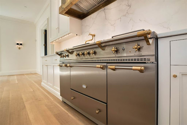 Kitchen Washington DC luxury house range mansion Kalorama regency style limestone