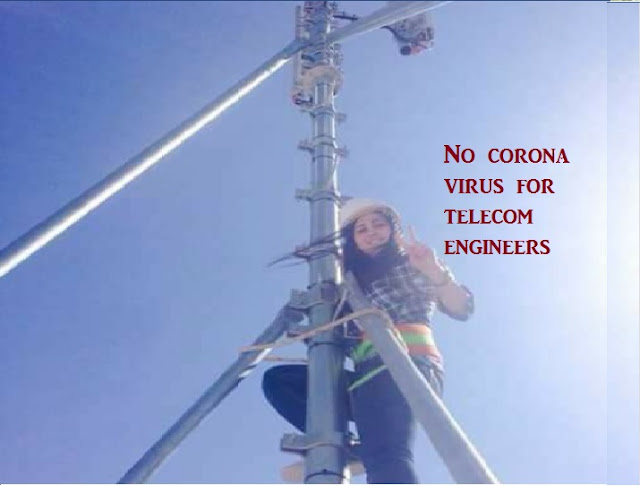 Telecom engineers unafraid of corona virus