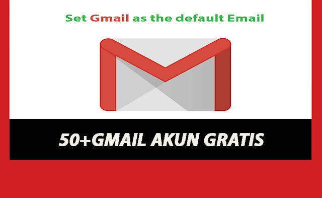 50+ Akun Gmail Gratis!