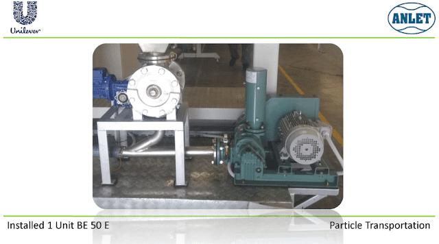 Root Blower untuk transer material biji plastik