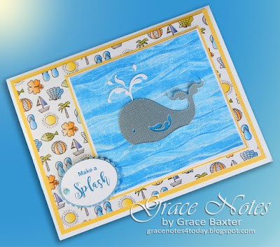 Make a Splash, birthday card. Designed by Grace Baxter