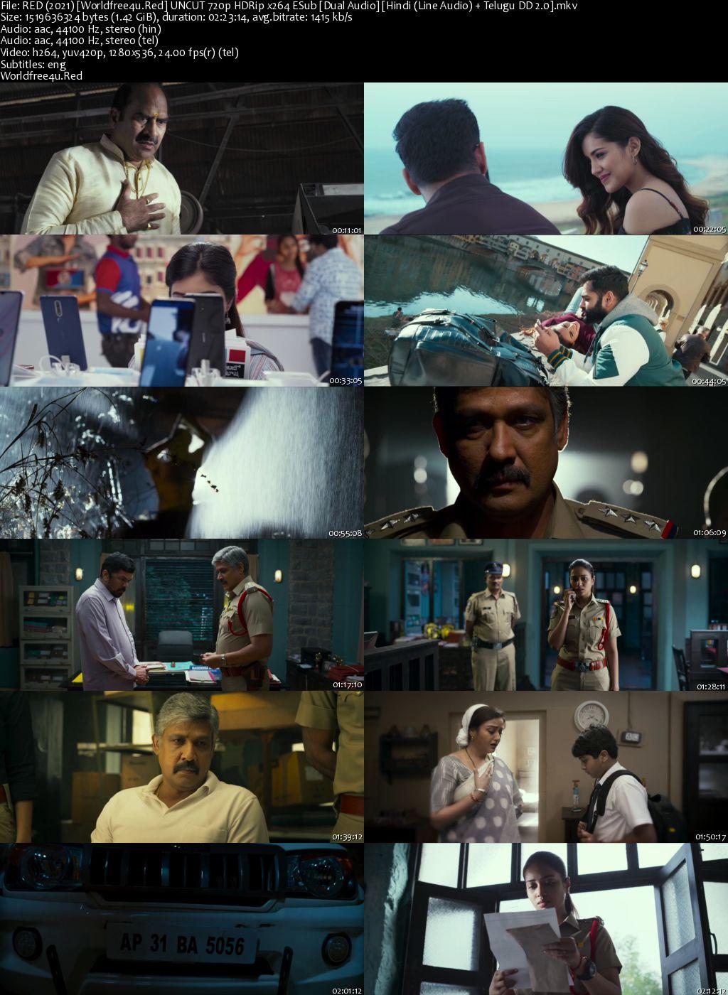 Red 2021 Hindi Dubbed HDRip 720p ESub