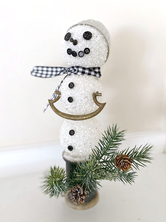 How to build a DIY Christmas snowman using reclaimed parts