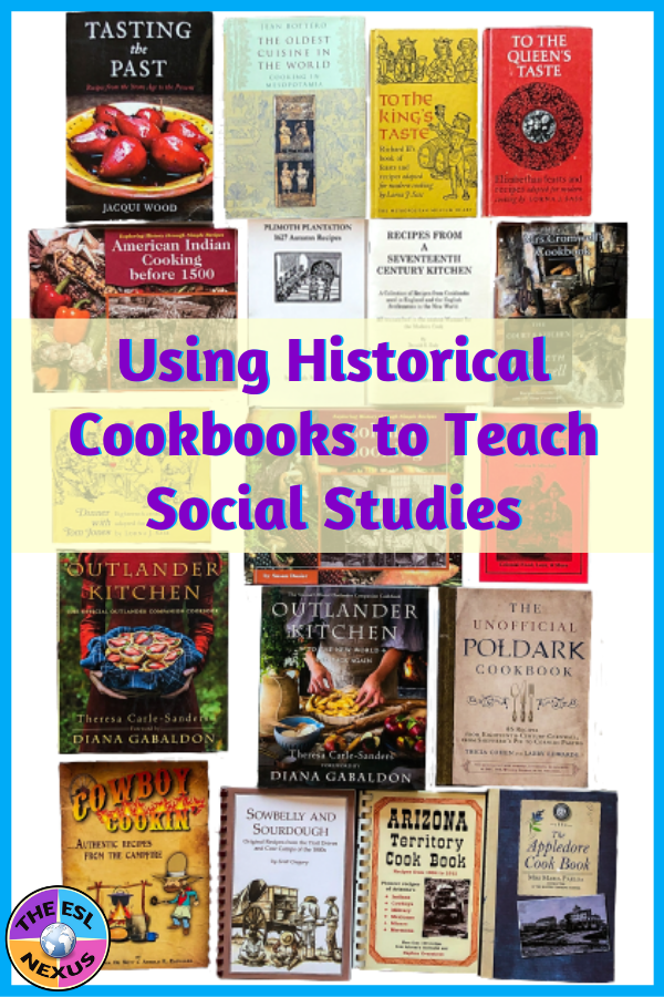 A display of the 18 historical cookbooks in the collection of The ESL Nexus