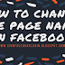 How To Change The Page Name On Facebook