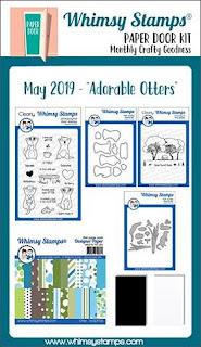 Adorable Otters Paper Door Kit