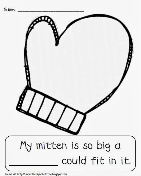 Under the Alphabet Tree: Mitten Writing Freebie
