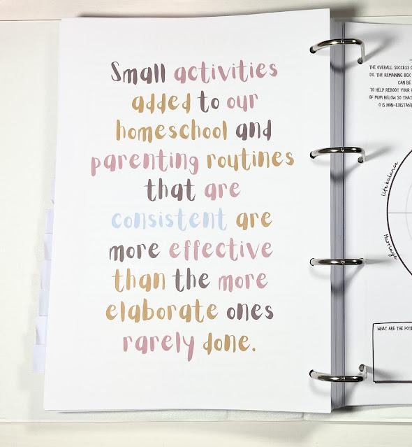 Homeschool Planner quote