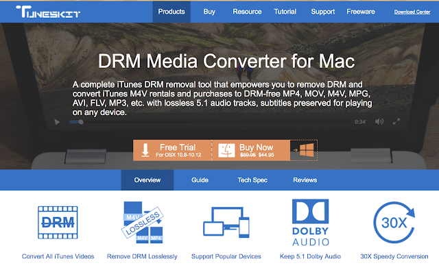 Tuneskit DRM Media Converter Software for Mac : Exclusive Review