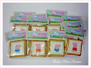 kit cumpleaños Peppa Pig galletas decoradas