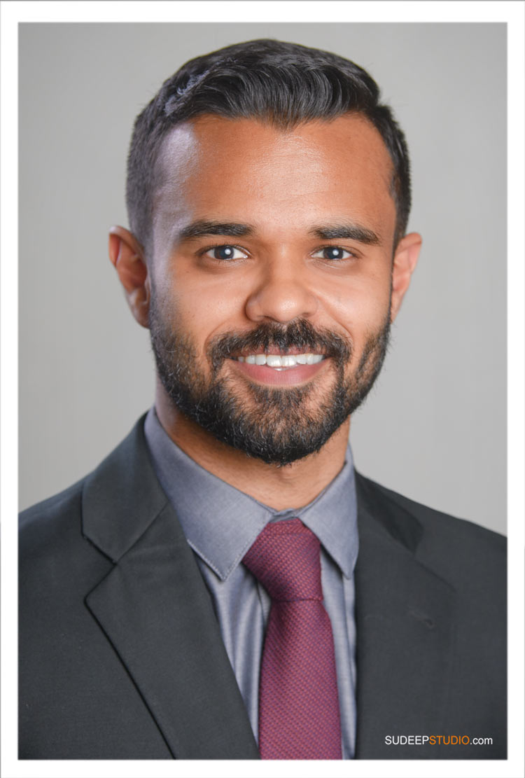Medical Fellowship Headshots for ERAS Indian Doctor by Ann Arbor Professional Headshot Photographer