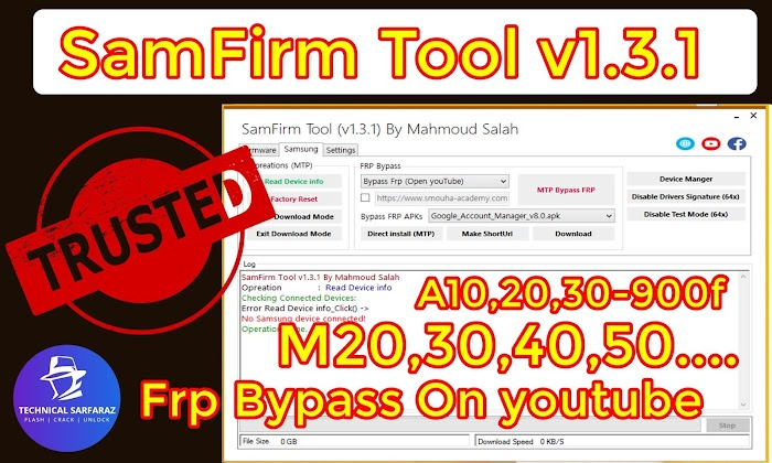 SamFirm Tool v1.3.1 | Combination | Firmware | FRP Bypass | Drivers [All-IN-One Tool]
