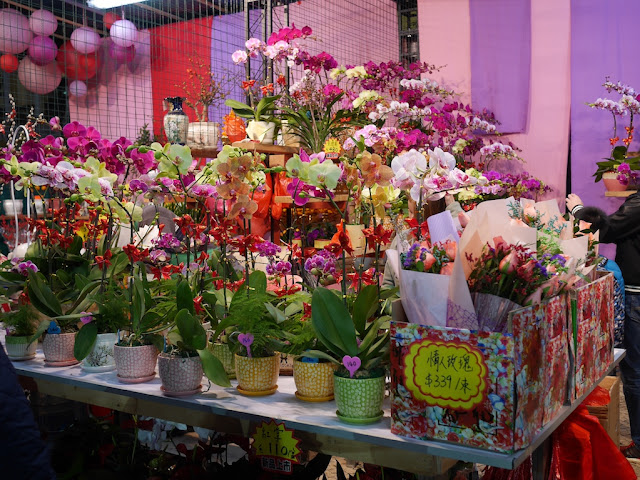 flowers for sale at Tap Seac Square Lunar New Year Market