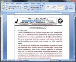 Contoh Proposal LATIHAN GABUNGAN Pramuka  7Hitam