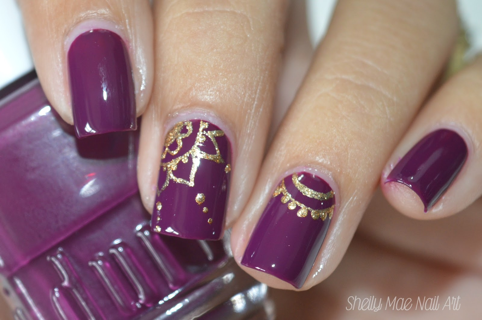 Fall Nail Art using Duri Cosmetics Nail Polishes - Sheily Mae Nail Art