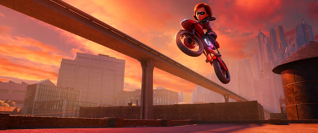 Elastigirl on her Elasticycle
