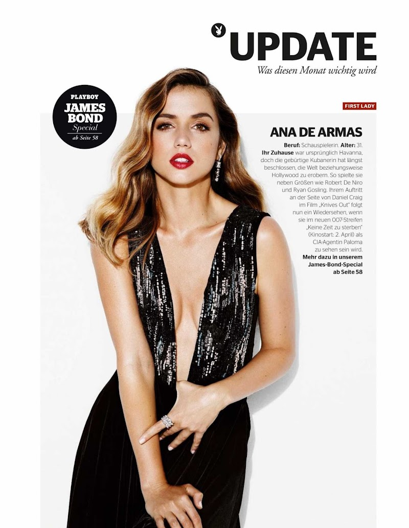 Ana de Armas Featured For Playboy Germany Magazine- April 2020