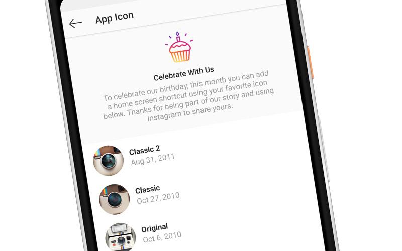 Cara Tukar Ikon Aplikasi Instagram Kepada Ikon Klasik Sempena Menyambut Ulang-tahun Ke-10