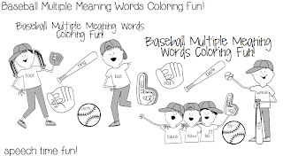 Speechie Freebies: Baseball Multiple Meaning Words