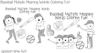Speechie Freebies: Baseball Multiple Meaning Words