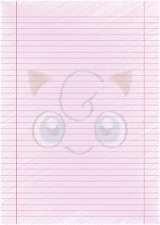 Papel Pautado da Jigglypuff Pokemon rabsicado PDF para imprimir na folha A4