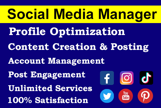 I will be your social media marketing manager and SEO assistant