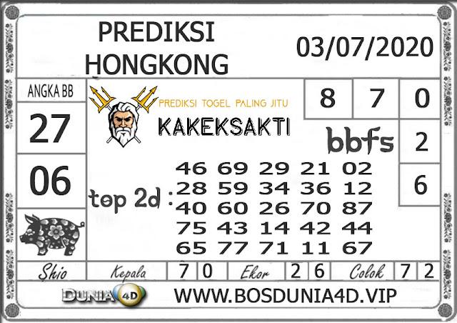Prediksi Togel HONGKONG DUNIA4D 03 JULI 2020