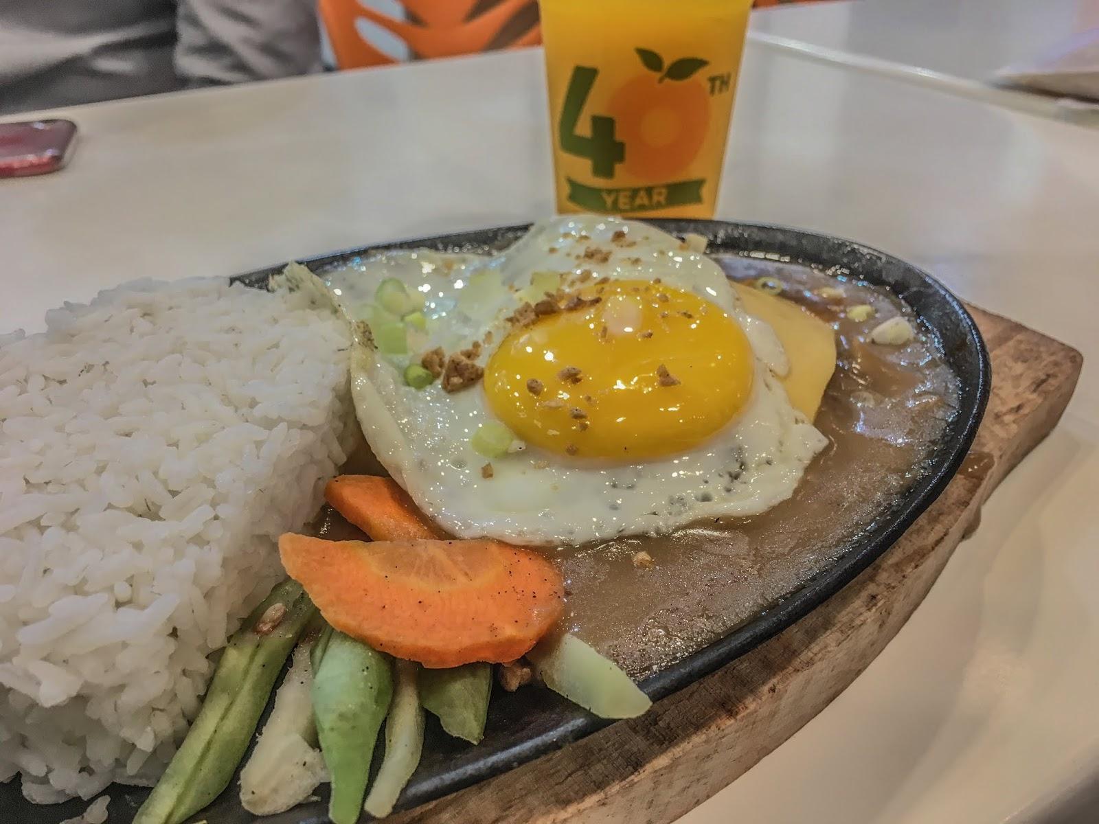 Orange Brutus Cebu Sizzling Burgersteak