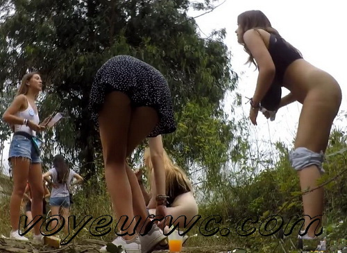 Girls Gotta Go 221 (Voyeur pee videos - Drunk spanish chicks peeing in public at festival)