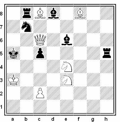 Problema de mate en 2 compuesto por V. Pilchenko y V. Shavyrin (2º Premio, Schachmaty v SSSR 1978)