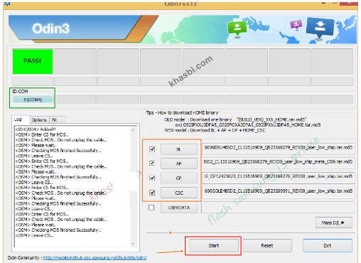 menambahkan file binary samsung a5 sm-a520f