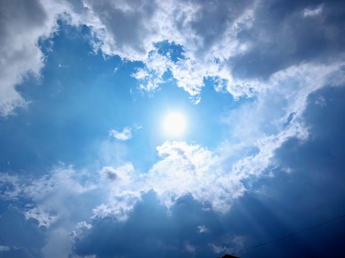 A beautiful Sun and Cloudy