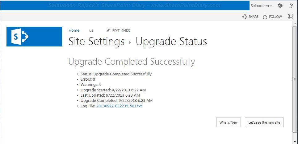 Monitor Upgrade Status