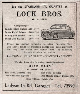Lock Bros advert 1956