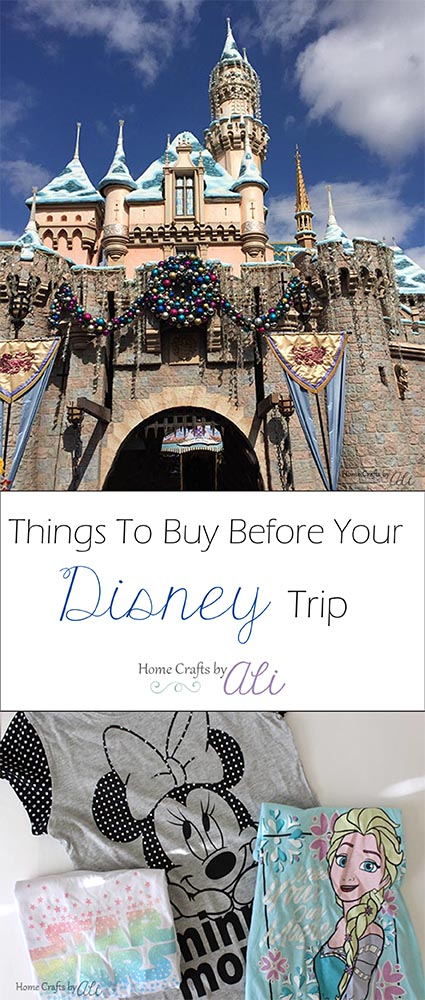 Save money on Disney Trip by buying items before you go to disney parks