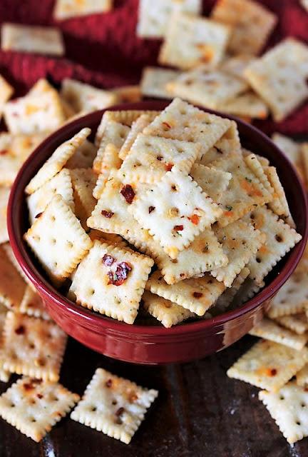 Bowl of Fire Crackers Seasoned Saltines Image