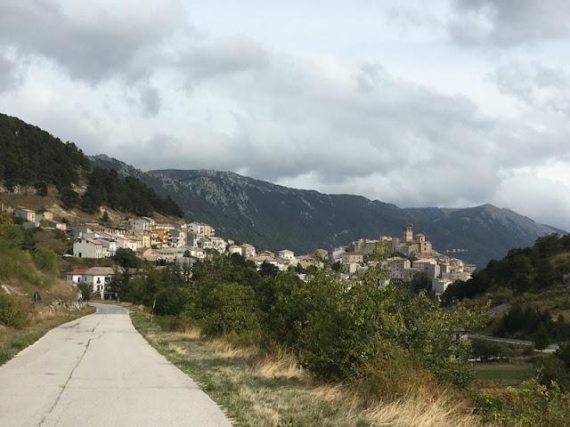 Hillside town of Castel Del Monte, Abruzzo, Italy