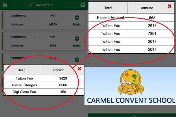 faridabad-carmel-convent-school-reduced-tution-fees-other-charges