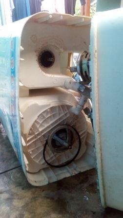 cara bongkar gearbox mesin cuci 2 tabung