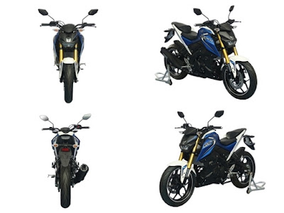 Yamaha M-SLAZ 150 blue color all angle image