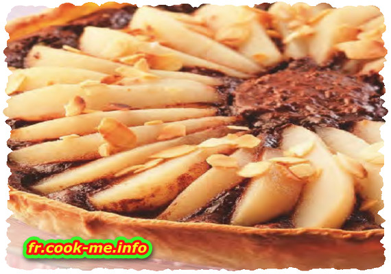 Tarte chocolat poire