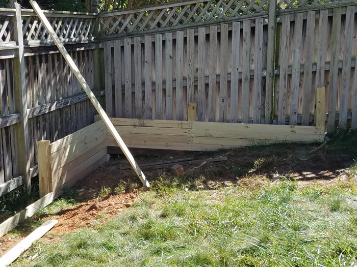 Raised Garden Bed Against Fence Remodelando La Casa