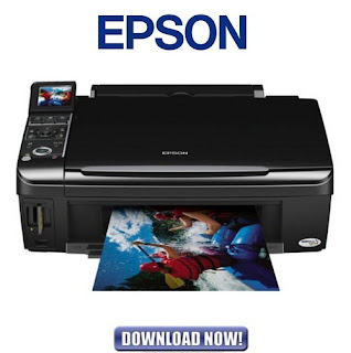 the dark glossy facial expression makes a lot on the desk in addition to it tin last cleaned good from the exterior Epson Stylus TX400 Driver Download