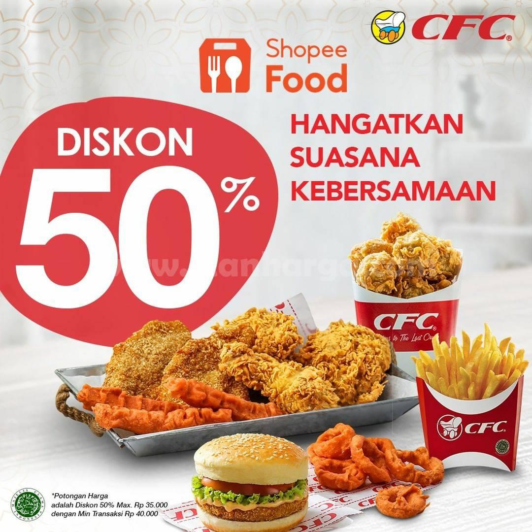 CFC Promo Diskon 50% pemesananan via ShopeeFood