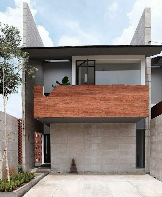 Minimalist 2-Story Flat-Roofed House