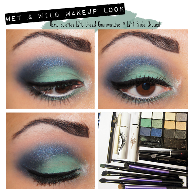 A picture of Wet & Wild Makeup Look using Pride Orgueil & Greed Gourmandise