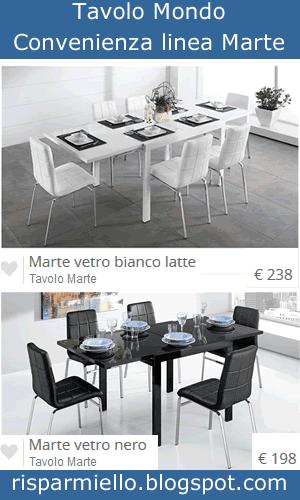Risparmiello tavoli in vetro mondo convenienza for Tavolo quadrato mondo convenienza