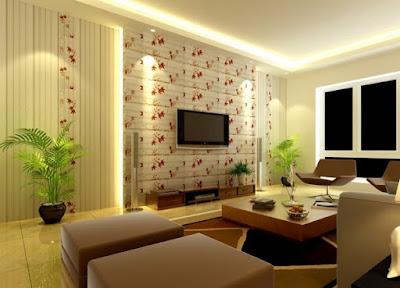 Trang trí phòng khách màu xanh