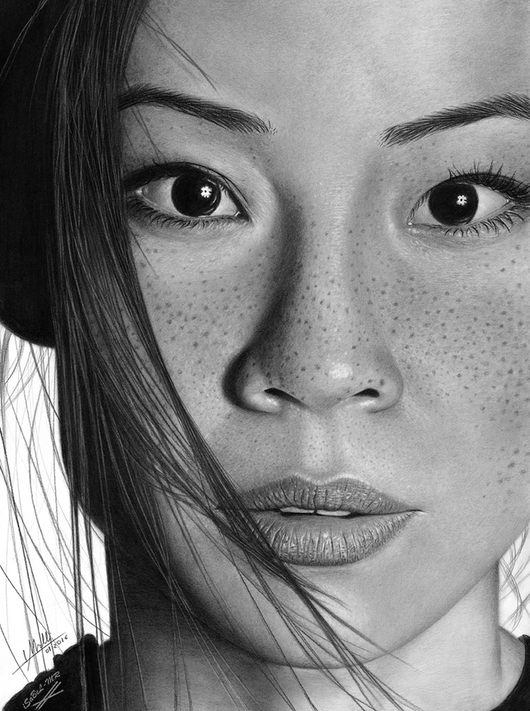 06-Lucy-Liu-Isabel-Morelli-iSaBeL-MR-Pencil-Black-Pastel-and-Charcoal-Portrait-Drawings-www-designstack-co